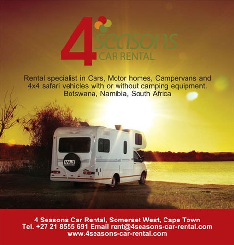 4 Seasons Camper Hire, Cape Town, Johannesburg, Windhoek, Maun